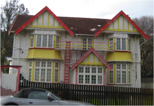 This heritage listed house was designed by well-known Wellington architects Thomas Turnbull and Son for Catherine Gray in 1910.
