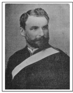George Vance Shannon in his militia uniform. Cyclopedia of New Zealand, Volume 1, 1897.