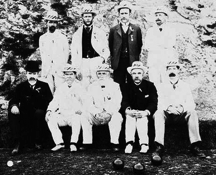 Robert Chisenhall Hamerton, front row centre, with the original directors of the Kelburn Bowling Club in 1903.[Wellington City Archives]