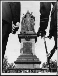 Queen Victoria and her disciples, Empire Day, 24 May 1957 Photographer unknown (Evening Post), PAColl-7796-52, Alexander Turnbull Library