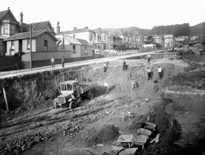 Construction of the Mt Victoria tunnel started in 1929 and was finished 15 months later.